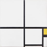 Piet Mondrian, Composition with Yellow, 1930